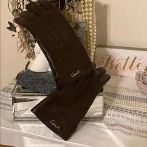 Authentic Leather Coach Gloves size 6.5